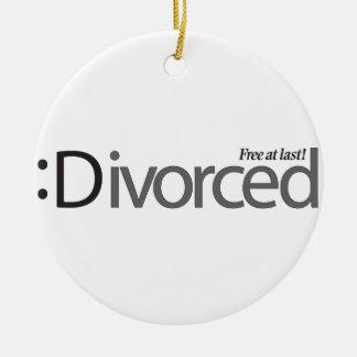 離婚-最後で放して下さい セラミックオーナメント