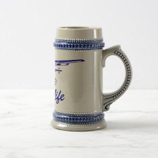 離陸のセスナのキャラバン ビールジョッキ