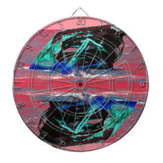 難破の抽象的なピンク ダーツボード