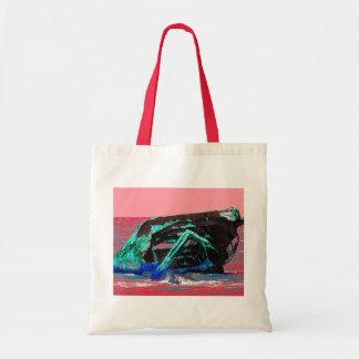 難破の抽象的なピンク トートバッグ