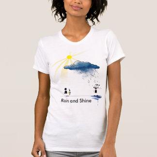 雨および輝やき Tシャツ