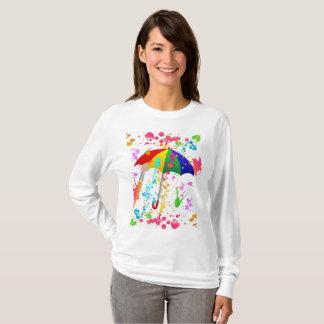 雨が降っています! 新しいペンキの版 Tシャツ