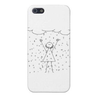 雨が降る音楽に立つこと iPhone 5 COVER
