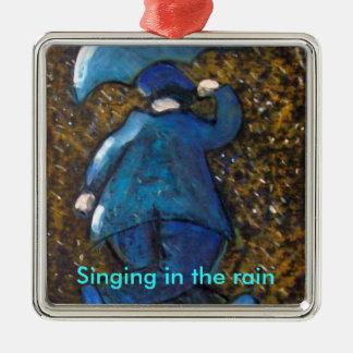 雨で歌います、オーナメント メタルオーナメント