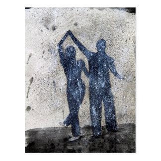 雨で踊っている恋人 ポストカード