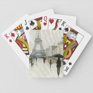 雨のエッフェル塔|パリ トランプ