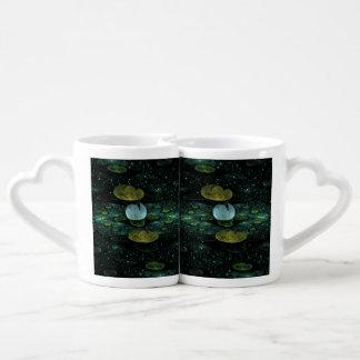 雨のスイレン ペアカップ