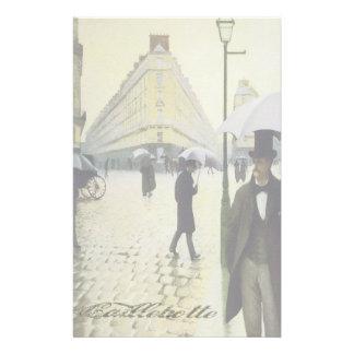 雨のパリ-文房具 便箋
