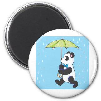 雨のパンダ マグネット