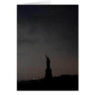 -雨の夕べ自由の女神 カード