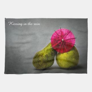 雨の接吻 キッチンタオル