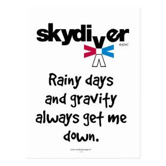 雨の日および重力 ポストカード