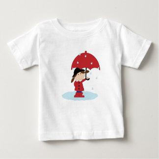雨の日のベスト-ベビーのTシャツ ベビーTシャツ