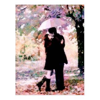 「雨の日恋人」の郵便はがき ポストカード