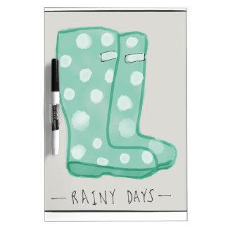 雨の日 ホワイトボード