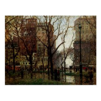 雨の日、マディソンスクエア、ニューヨーク ポストカード