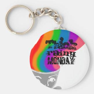 雨の月曜日は幸せな思考Keychainを考えます キーホルダー