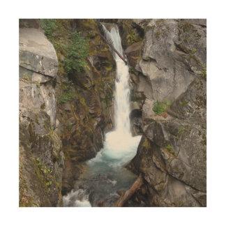雨の滝 ウッドウォールアート
