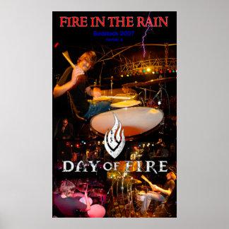 雨の火-火@ Godstock 2007年の日 ポスター