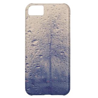 雨の窓からの抽象的な木の写真 iPhone5Cケース