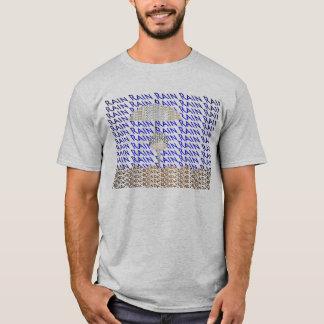 雨タイポグラフィの人のTシャツの灰色 Tシャツ