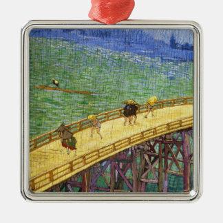 雨フィンセント・ファン・ゴッホの芸術の橋 メタルオーナメント