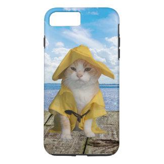 雨レインコートのEl Gatoの漁師猫 iPhone 8 Plus/7 Plusケース