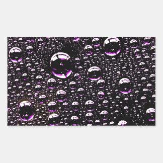 雨低下 長方形シール