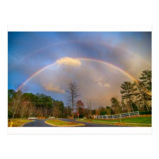 雨嵐の後の虹 ポストカード