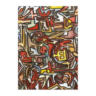 雨日手によって絵を描かれる抽象的な幾何学的 アクリルウォールアート