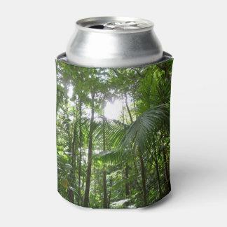 雨林のおおいの熱帯緑による日光 缶クーラー