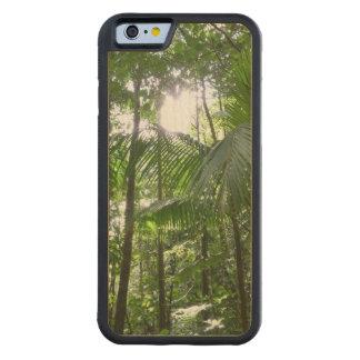 雨林のおおいの熱帯緑による日光 CarvedメープルiPhone 6バンパーケース