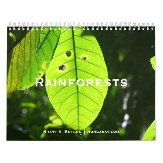 雨林のカレンダー カレンダー