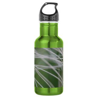 雨林のヤシの木の葉の終わり ウォーターボトル