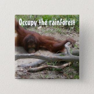 雨林を占めて下さい 缶バッジ