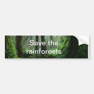 雨林 バンパーステッカー