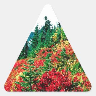 雨楽園Mtの公園のSubalpine草原 三角形シール