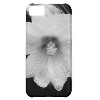雨滴が付いているBWの花 iPhone5Cケース