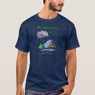 雨滴のキャンプ Tシャツ