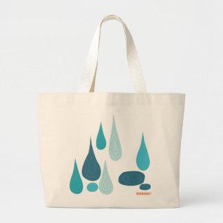 雨滴のトートバック ラージトートバッグ