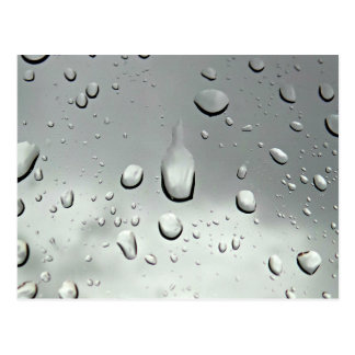 雨滴の写真撮影 ポストカード