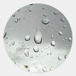 雨滴の写真撮影 ラウンドシール