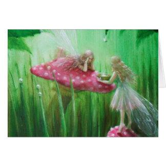 雨滴を集めている妖精 カード