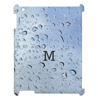 """""""雨滴""""のカスタムなモノグラム装置ケース iPadケース"""