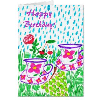 雨滴 カード