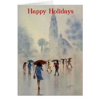 雨滴、バルボア公園、SAN DIEGOCALIFORNIA カード