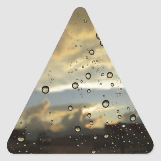 雨滴 三角形シール