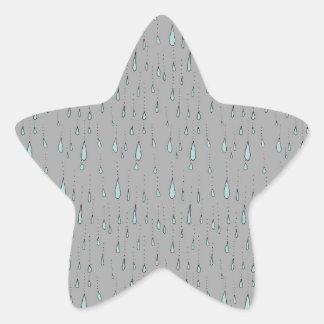 雨滴 星シール