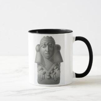 雨神Cocijoの「Ancからのプレートの石造りの偶像 マグカップ