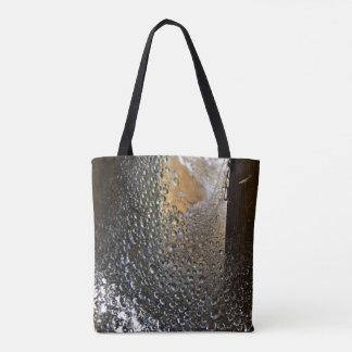 雨蜘蛛の巣の抽象美術の後 トートバッグ